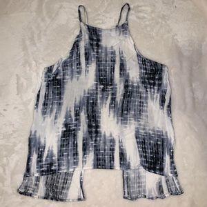 Tie dye halter top with open back